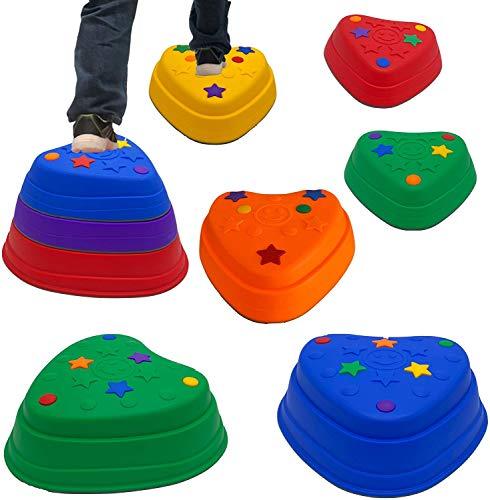 Trittsteine für Kinder, River Stone-Übungsblöcke für Gleichgewicht...