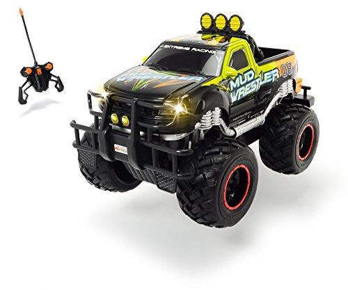 Dickie Toys - RC Ford F150 Mud Wrestler, Ferngesteuertes Auto für drinnen und draußen, 10 km/h, XL Monster...