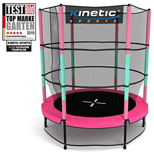 Kinetic Sports Trampolin Kinder Indoortrampolin Jumper 140 cm Randabdeckung Stangen gepolstert,...