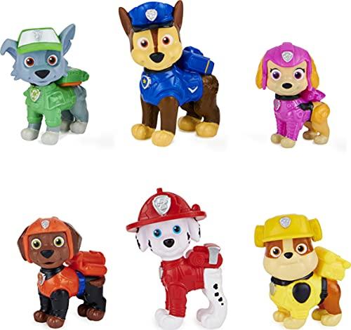 Paw Patrol Geschenkset mit 6 Hero Pups Spielfiguren aus dem Kinofilm,...