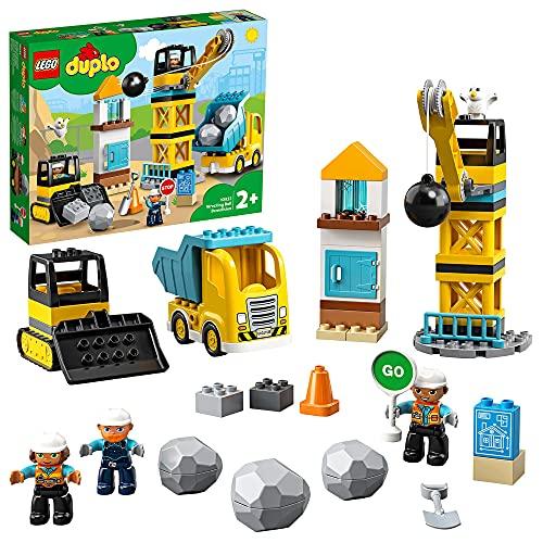 LEGO 10932 DUPLO Baustelle mit Abrissbirne, Bauset mit Lastwagen, Kran...