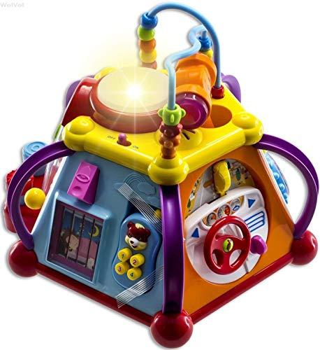 WolVolk Cominglecube Pädagogische Kinder Kleinkind Baby Spielzeug Musikalische Aktivität Cube Play Center...