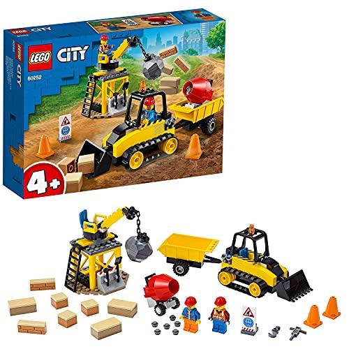 LEGO 60252 Bagger auf der Baustelle, Kinderspielzeug für Kinder ab 4...