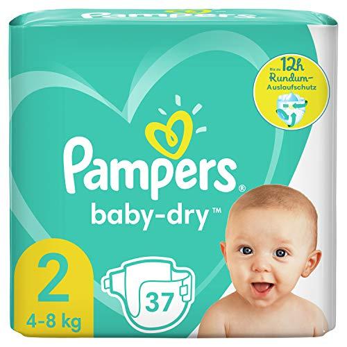 Pampers Baby-Dry Größe 2, 37 Windeln, bis zu 12Stunden...