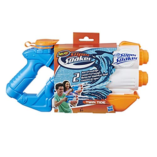 Hasbro Super Soaker E0024EU4 - Twin Tide Wasserpistole, mit doppelter Spritzpower
