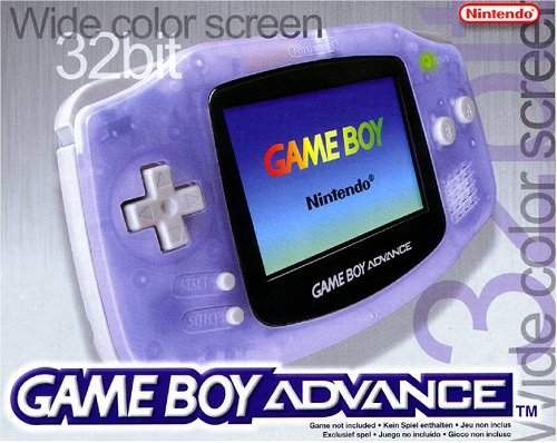 Game Boy Advance Konsole Clear Blue