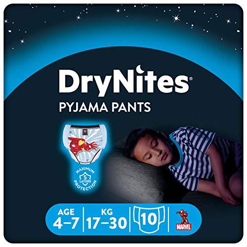 DryNites saugfähige Nachtwindeln bei Bettnässen, Für Jungen 4-7...