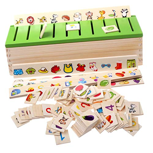 F Fityle Montessori Holz Steckspiel Sortierspiel...
