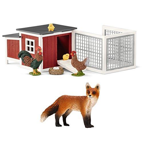 Schleich Farm Life - Fuchs im Hühnerstall! - 14782 42421 Spielfiguren...