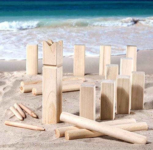 Strand Kubb Wikinger Spiel Wurfspiel asu Holz