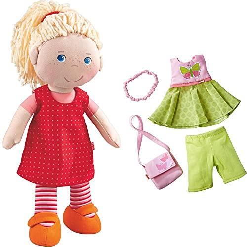 HABA 302108 - Puppe Annelie, Stoffpuppe mit Kleidung und Haaren, 30...