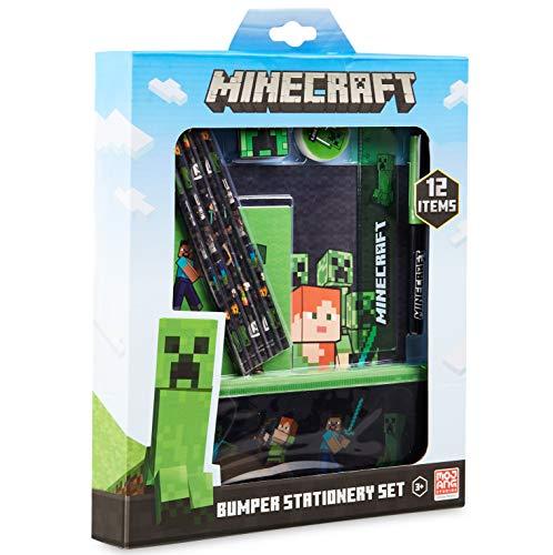 Minecraft Schulsachen, Stifte Set mit Federtasche Junge, Notizhefte,...