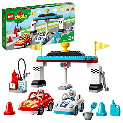 LEGO 10947 DUPLO Rennwagen Spielzeugautos, Kleinkinder Spielzeug,...