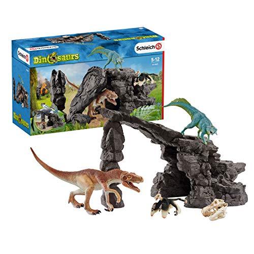 Schleich 41461 Dinosaurs Spielset - Dinoset mit Höhle,...