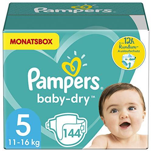 Pampers Größe 5 Baby Dry Windeln, 144 Stück,...