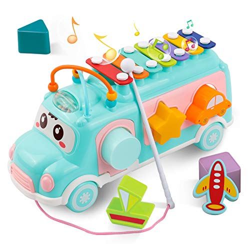 DeeXop Babyspielzeug 12-18 Monate+ Aktivität Würfel Spielzeug Bus...