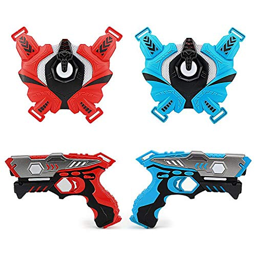 LUKAT Infrarot Laser Tag Set, 2 Pistole LaserTag-Blaster für Kinder...