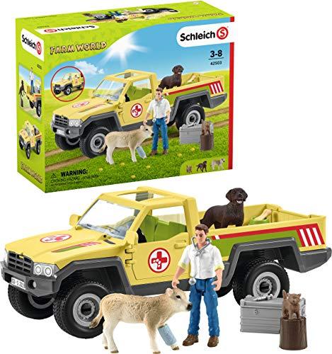 Schleich 42503 Farm World Spielset - Tierarztbesuch auf dem Bauernhof,...