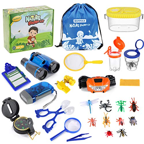 BAMMAX Draussen Forscherset, 24 Stücke Nature Explorer Kit, Kinder...