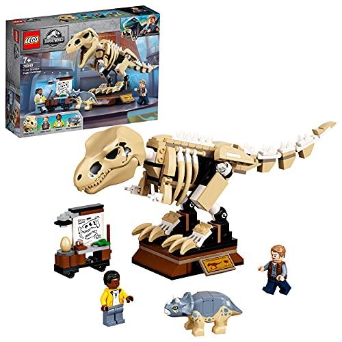 LEGO 76940 Jurassic World T. Rex-Skelett in der Fossilienausstellung,...