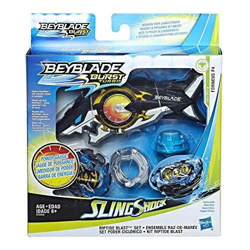 Hasbro Beyblade E5566EU5 Beyblade Burst Original Turbo Slingshock Riptide Blast Set
