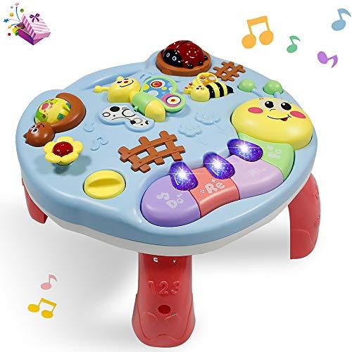 Musikalischer Lerntisch Babyspielzeug Aktivität Tisch - 2 in 1...