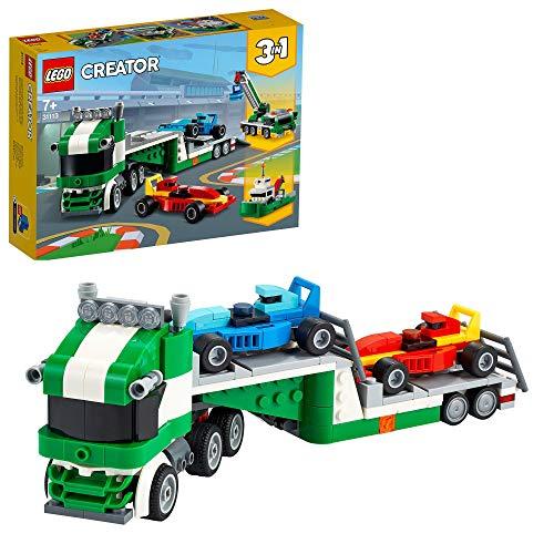 LEGO 31113 Creator 3-In-1 Rennwagentransporter Spielzeug LKW mit...