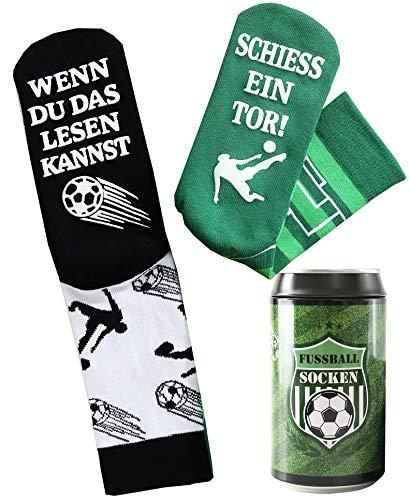 Fussball Socken - Geburtstagsgeschenk für Fußballfans und...