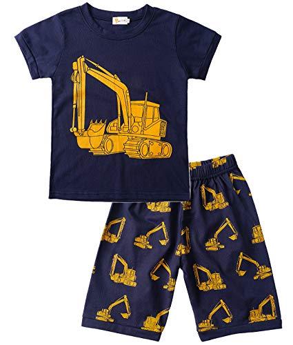 Tarkis Jungen Baumwolle Schlafanzug Kurzarm- Pyjama, 08 Dunkelblau...