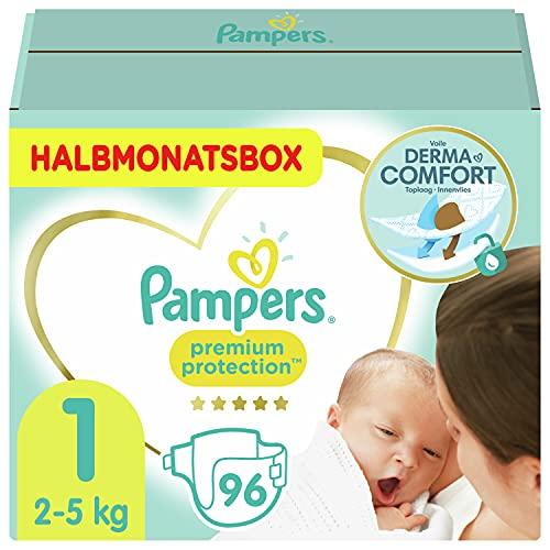 Pampers Baby Windeln Größe 1 (2-5kg) Premium Protection, 96 Stück,...
