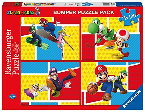 Ravensburger 05195 3 Super Mario, Mehrfarbig