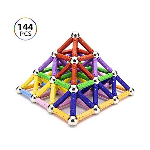 Magnetische Bausteine Regenbogen Set 144 stück ähnlichen gebäude kit kreativ und Pädagogische Spielzeug...