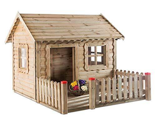 Unbekannt Spielhaus Lucas mit Veranda - Holz-Spielhaus Kinder-Garten...