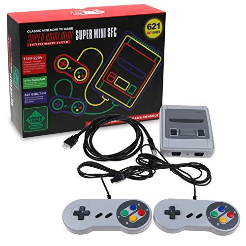 SKAL TV Spielekonsolen Retro Classic Mini, Spielkonsole Built-in Klassische Spiele, HDMI TV Output mit Zwei...