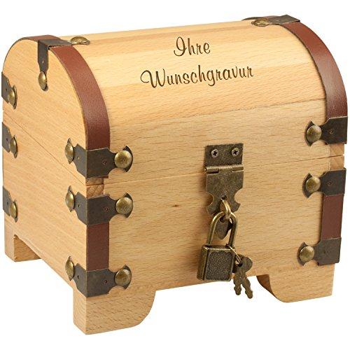 Geschenke 24 Holz-Schatztruhe mit Gravur - 3 Zeilen...