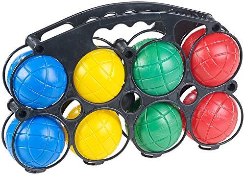 PEARL Boccia Spiel Kinder: Boule- & Boccia-Spiel mit 8...