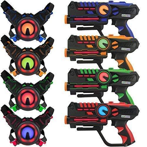 ArmoGear Laser-Tag - Laser-Tag-Pistolen mit 4er-Set -...