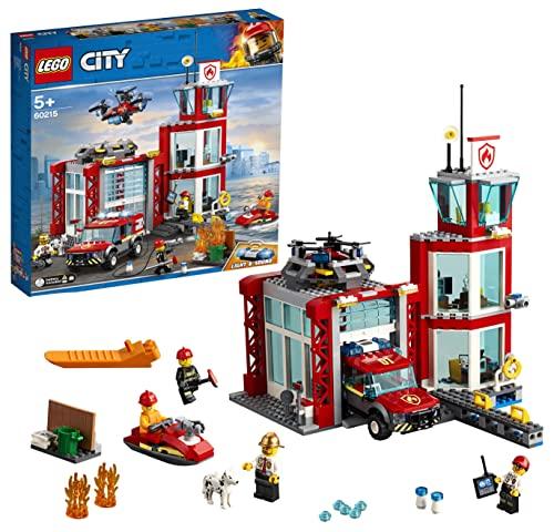 LEGO 60215 City Feuerwehr-Station, Bauset mit Lastwagen,...