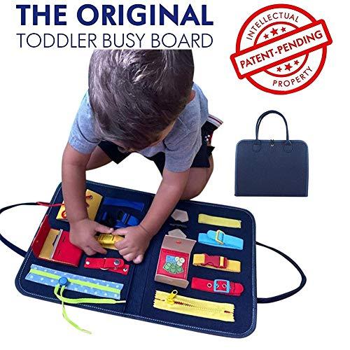 Busy Board, Montessori-Aktivitätsbrett Für Grundfertigkeiten Für Feinmotorik Und Lernen, Sich Anzuziehen,...
