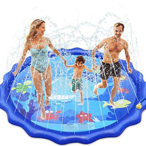 INNOCHEER Splash Pad, Sprinkler Play Matte, 172cm Wasser-Spielmatte Splash Play Matte - Sommer Garten...