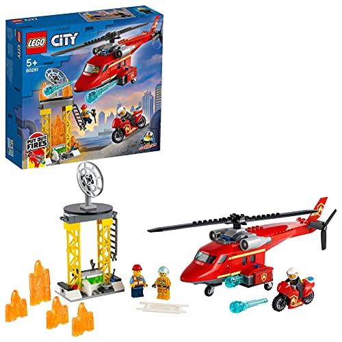 LEGO 60281 City Feuerwehrhubschrauber, Helikopter Spielzeug für...