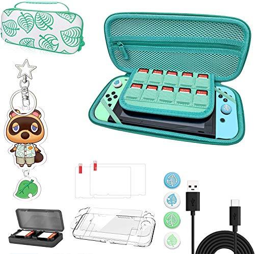 Nintendo Switch Tragetasche, Animal Crossing Case Kit mit Zubehör,...