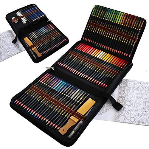 Aquarell Buntstifte Set für Erwachsene, 96 Stück Buntstifte zum...