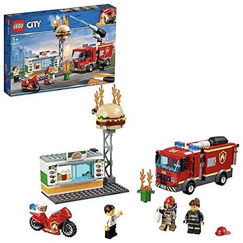LEGO 60214 City Feuerwehreinsatz im Burger-Restaurant, Bauset mit...