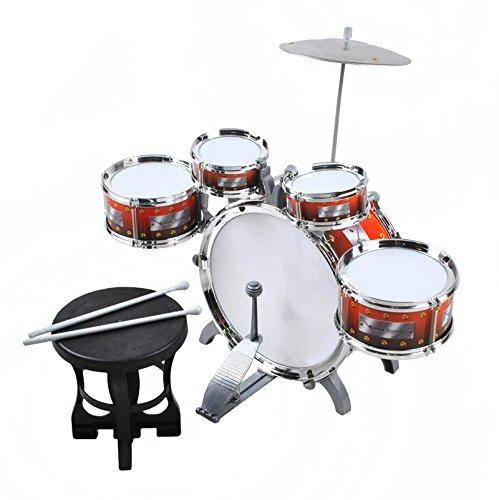 ISO TRADE Schlagzeug für Kinder XL Bass 4 Trommeln Becken Hocker...