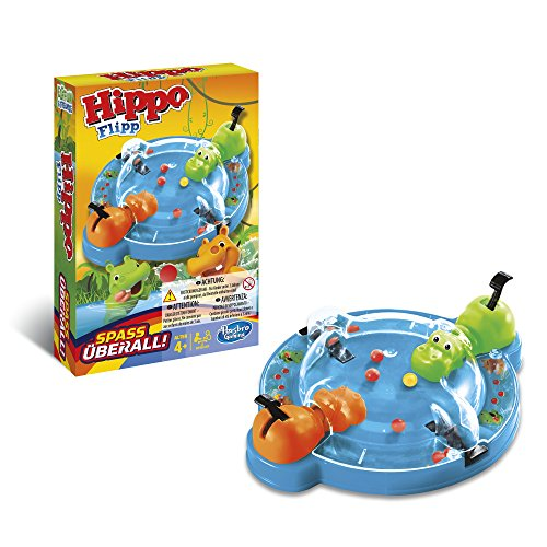 Hasbro B1001103 - Reisespiel Eat Hippo, deutsche Version