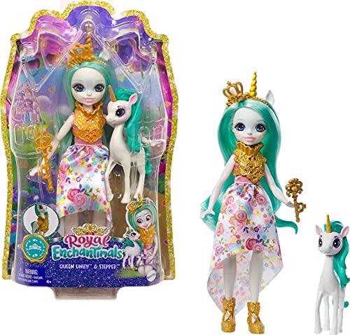 Enchantimals GYJ13 - Royals Königin Paradise Puppe(20,3cm groß)...