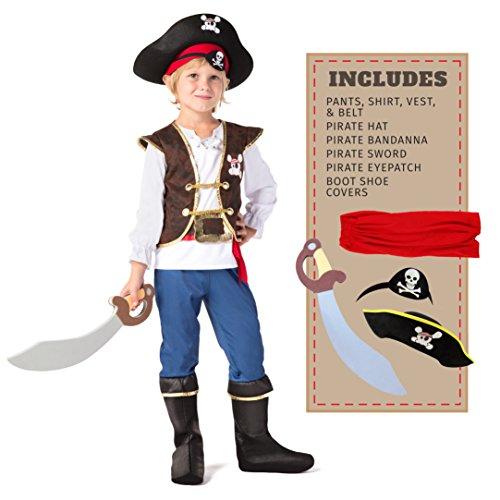 Spooktacular Creations Kinder Piraten Kostüm, Deluxe Jungen...