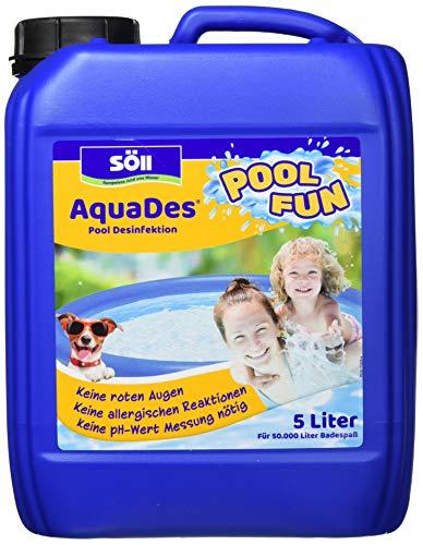 Söll 10750 AquaDes Pool-Desinfektion flüssig 5 l - wirksame Poolreinigung Wasserpflege gegen Bakterien und...