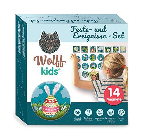 WOLFF KIDS Wochenplaner Kinder Feste-Set, Tagesplan Kinder, Kinder...